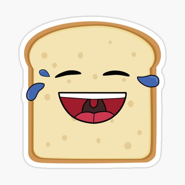 A slice of bread, laughing Sticker