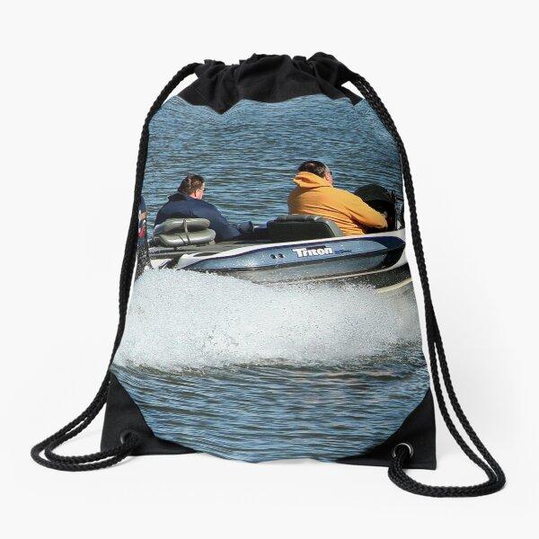 SpeedBoat Racer Drawstring Bag