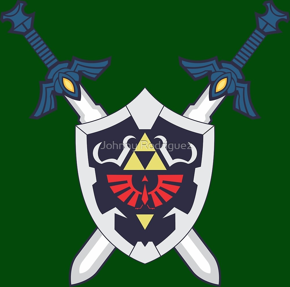 Hylian Shield and Master Sword Crest by Johnny Rodriguez