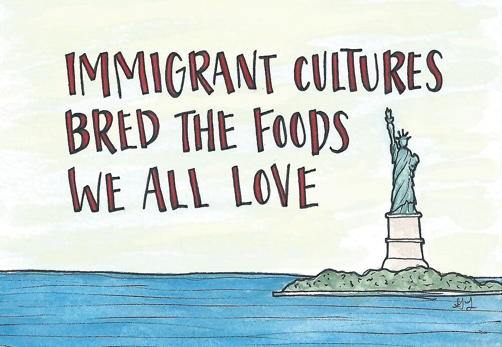 Immigrant Cultures Bred the Foods We All Love by Gina Lorubbio