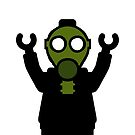Apocalyse Minifigure wearing Gasmask by Customize My Minifig