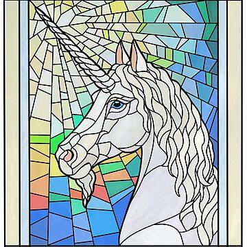 Unicornio en vidrio de Hareguizer