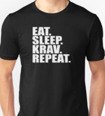 Krav Maga Design - Eat Sleep Krav Repeat Unisex T-Shirt