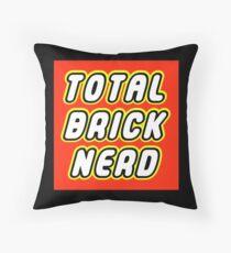 TOTAL BRICK NERD Throw Pillow