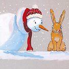 « Bonhomme de neige et lapin » par cindybarillet