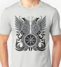 Camiseta ajustada Huginn y Muninn, los cuervos de Odin