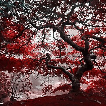 Red foliage by fourretout