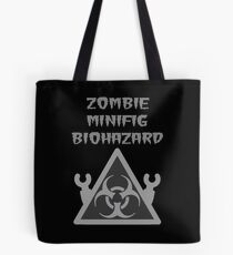 ZOMBIE MINIFIG BIOHAZARD Tote Bag