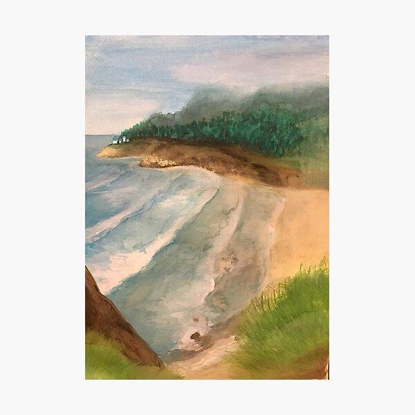 Heceta Head Lighthouse - original painting by mjh, 10-20-2018 Photographic Print