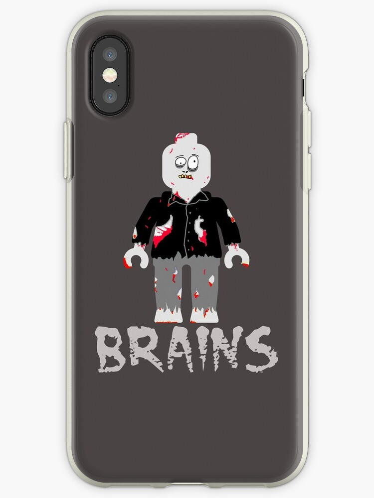 BRAINS ZOMBIE MINIFIG by ChilleeW