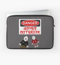 DANGER ZOMBIE OUTBREAK Laptop Sleeve