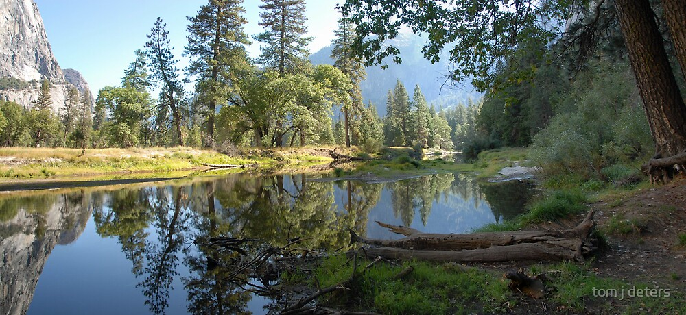 Yosemite Reflection Pano by Tom Deters