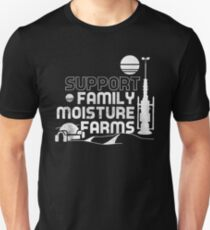 Support Family Moisture Farms Slim Fit T-Shirt