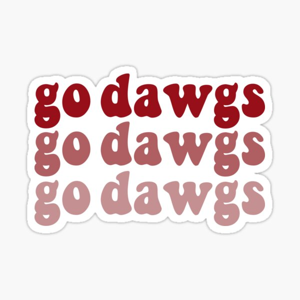 go dawgs Sticker