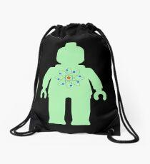 Minifig with Atom Symbol  Drawstring Bag