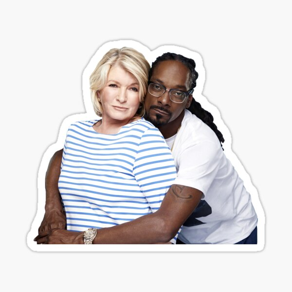 Martha Stewart y Snoop Dog - Pegatina Pegatina
