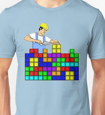 Tetris Brick Layer Funny Gamer T-shirt Adults