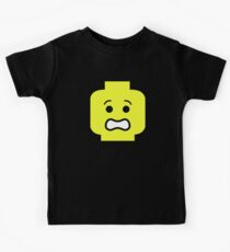 Scared Minifig Face  Kids Tee
