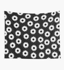 Daisies - Black BG Wall Tapestry
