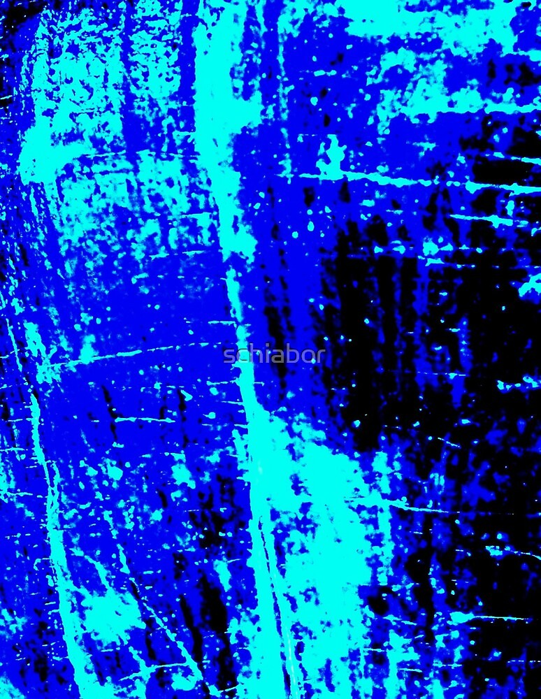 Blue Black Abstract by schiabor