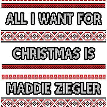 Ugly Christmas Sweater - Maddie Ziegler by amandamedeiros