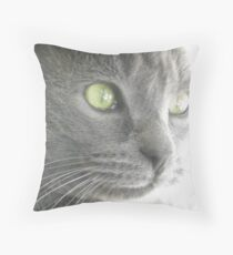 The Green Eyed Monster   WOOLY Throw Pillow