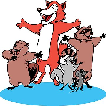 animals mouse singing beaver fox squirrel comedy choir joke roden cartoon by soufianeos
