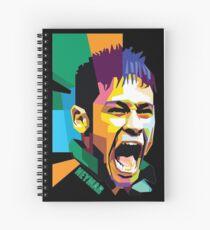 Cuaderno de espiral Neymar futbolista art design