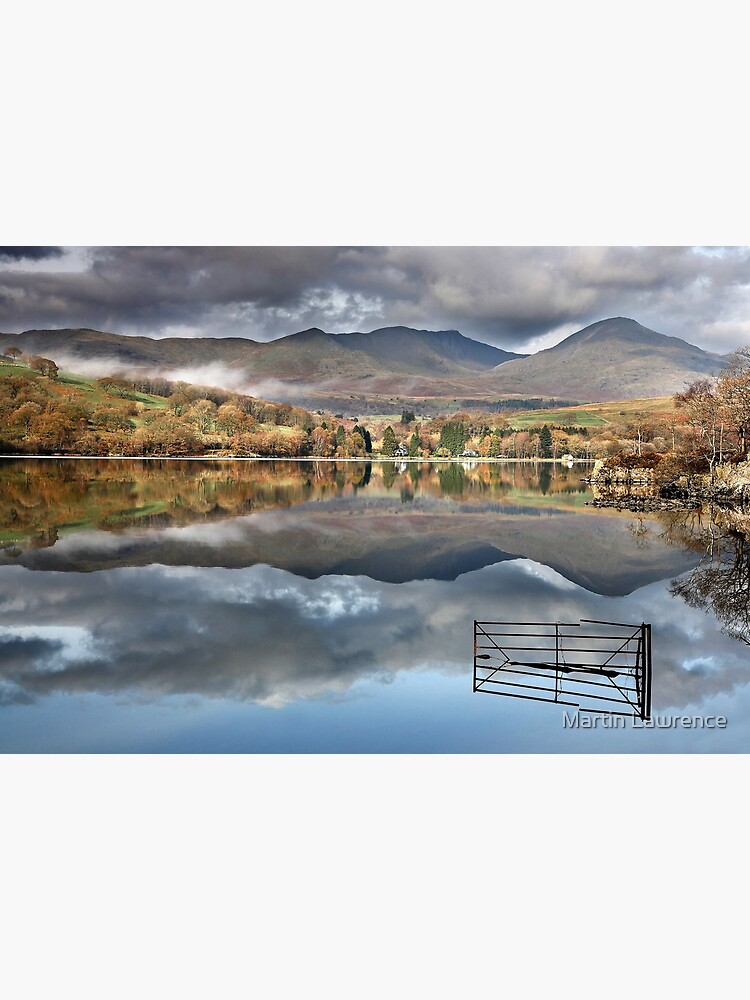 A Gate To Nowhere At Coniston Water In The English Lake District Art Board Print By Martinlawphoto Redbubble