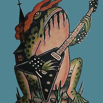 Flying Vee Guitar Frog by VictorIos