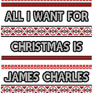 Ugly Christmas Sweater - James Charles by amandamedeiros