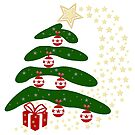 Modern Decorated Christmas Tree by Vickie Emms
