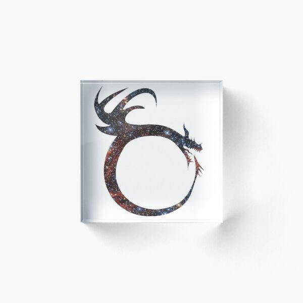 Ouroboros Dragon Acrylic Block