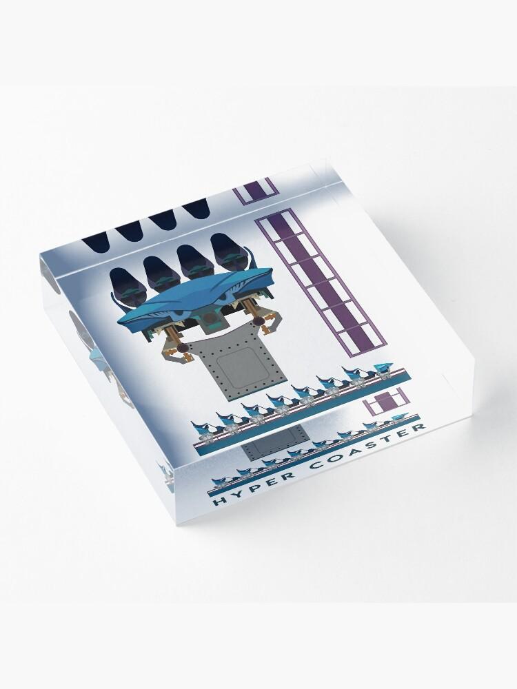 Alternate view of B&M Hyper Coaster Art Design - Maako Acrylic Block