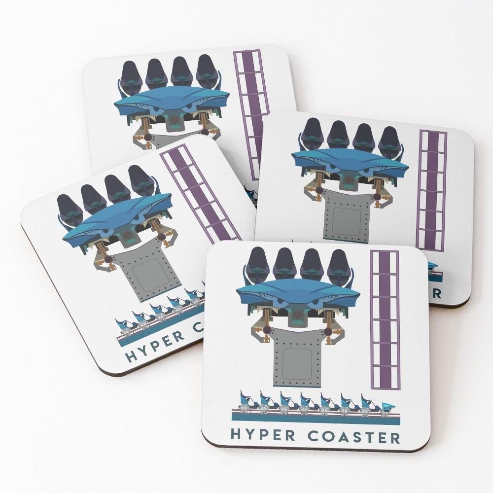 B&M Hyper Coaster Art Design - Maako Coasters (Set of 4)