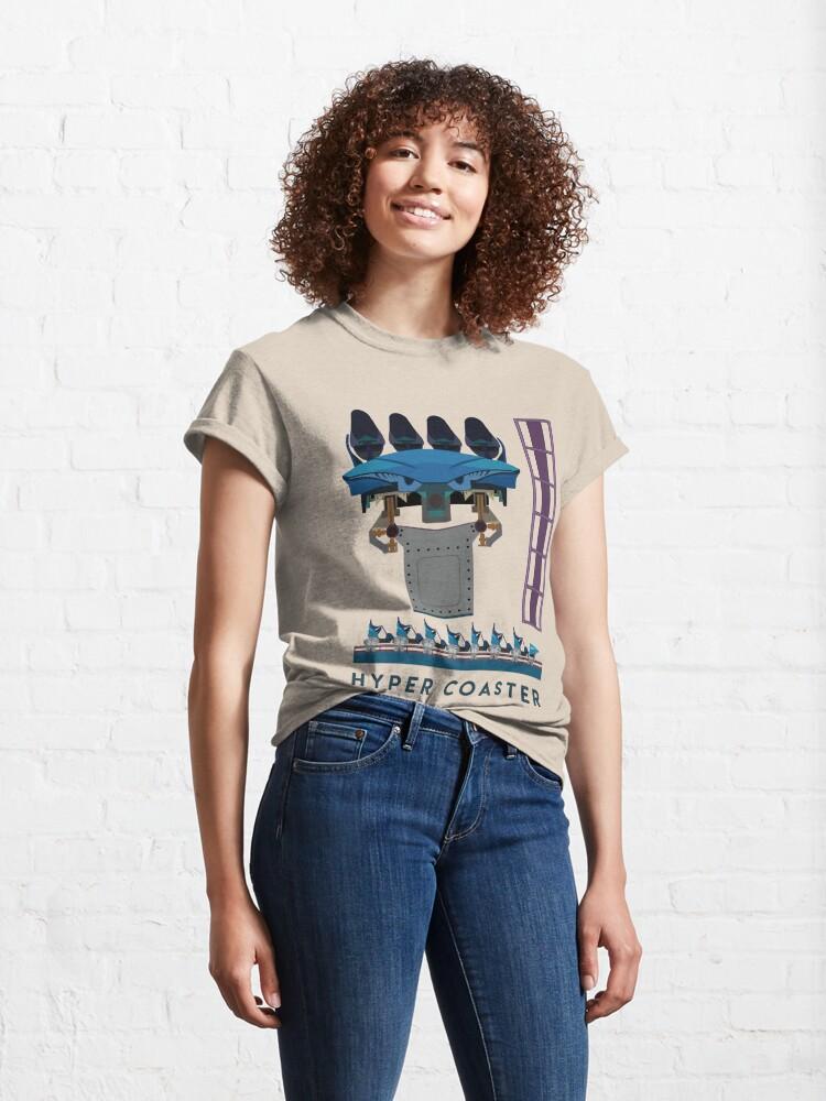 Alternate view of B&M Hyper Coaster Art Design - Maako Classic T-Shirt