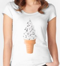 Tasty Tunes Women's Fitted Scoop T-Shirt