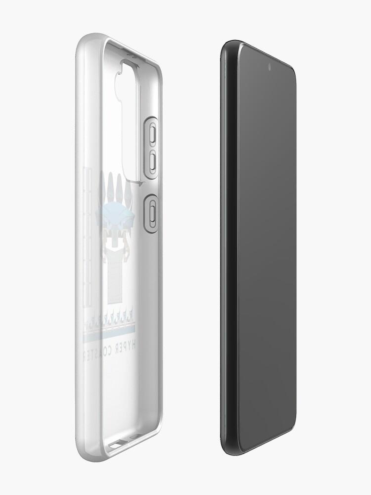 Alternate view of B&M Hyper Coaster Art Design - Maako Case & Skin for Samsung Galaxy