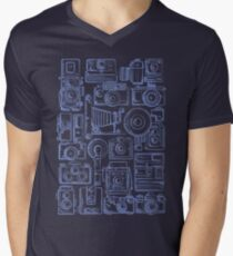 Paparazzi Blue Men's V-Neck T-Shirt