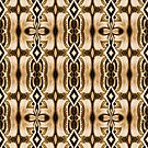 «Diamantes y hojas en marrón» de Lori Kingston