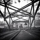 Broadway Bridge - Downtown Kansas City, Missouri by Robert Baker