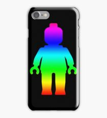 Minifig [Large Rainbow 1]  iPhone Case/Skin