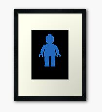 Minifig [Blue] Framed Print