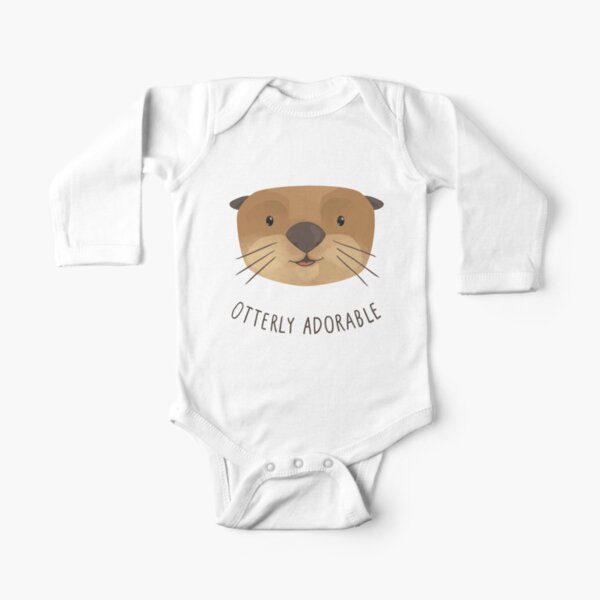 Otterly Adorable Long Sleeve Baby One-Piece