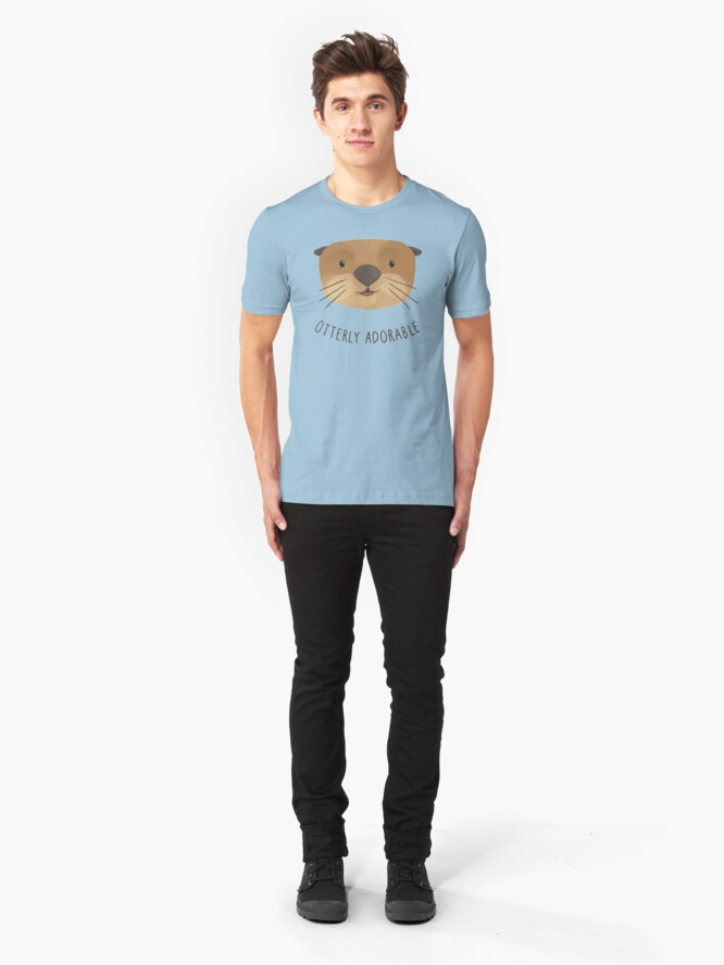 Alternate view of Otterly Adorable Slim Fit T-Shirt