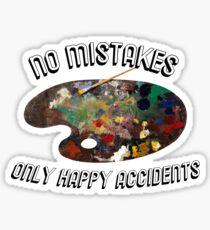 bob ross - happy accidents  Sticker