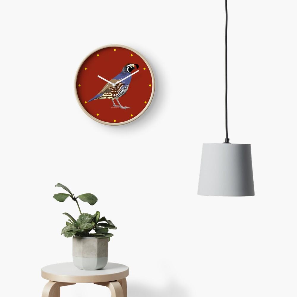 California Quail Clock