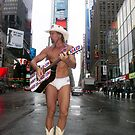 The Naked Cowboy, Times Square, New York by Bev Pascoe