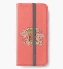 Cold Hands, Warm Coffee in Coral iPhone Wallet/Case/Skin