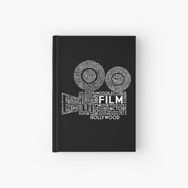 Film Camera Typography - White Hardcover Journal